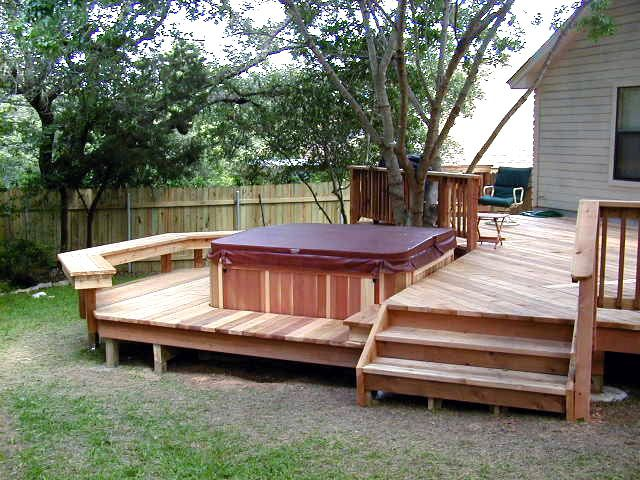 129 best images about Multi level deck on Pinterest | Deck ... on Deck And Hot Tub Ideas  id=53242