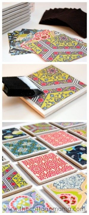 There's nothing better than a handmade gift and this Tile Coaster Tutorial will do the trick! What better way to celebrate than