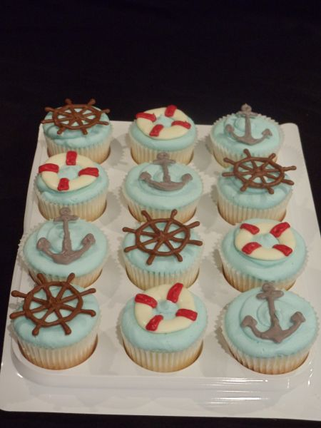 Best 25 Nautical Cupcake Ideas On Pinterest Sailor