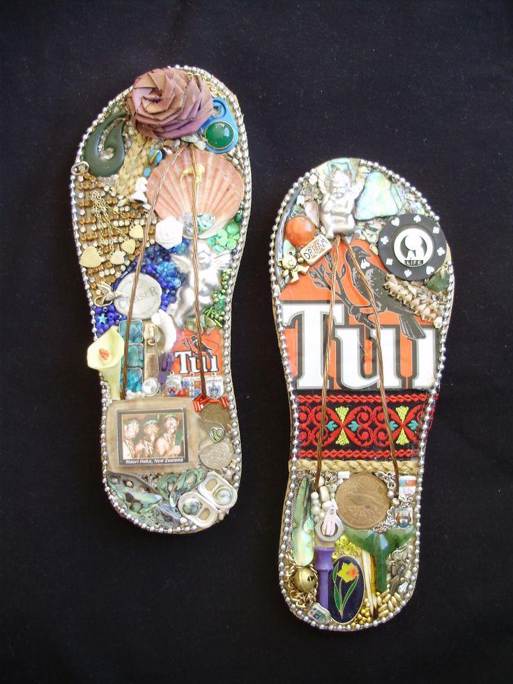 Kiwiana Jandals Decorative Jandals Using New Zealand