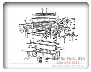 Ford 8N 06B01 Engine Assembly Outside | Ford Tractor