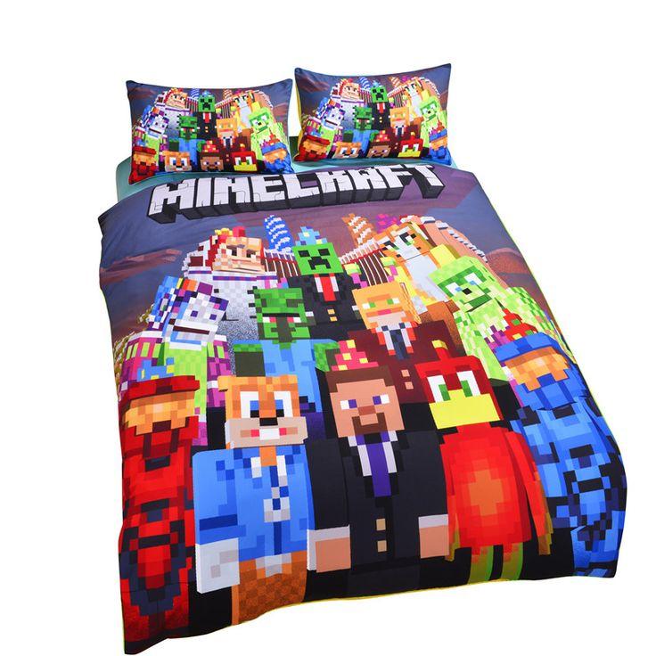 New Arrival Minecraft Bedding Set Vivid Kids Comforter