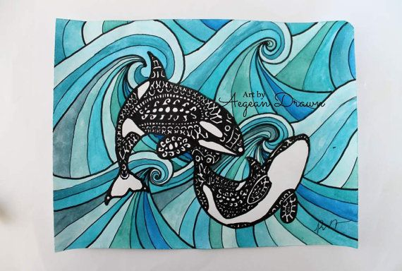 Coloring Whale Killer Tribal Pages