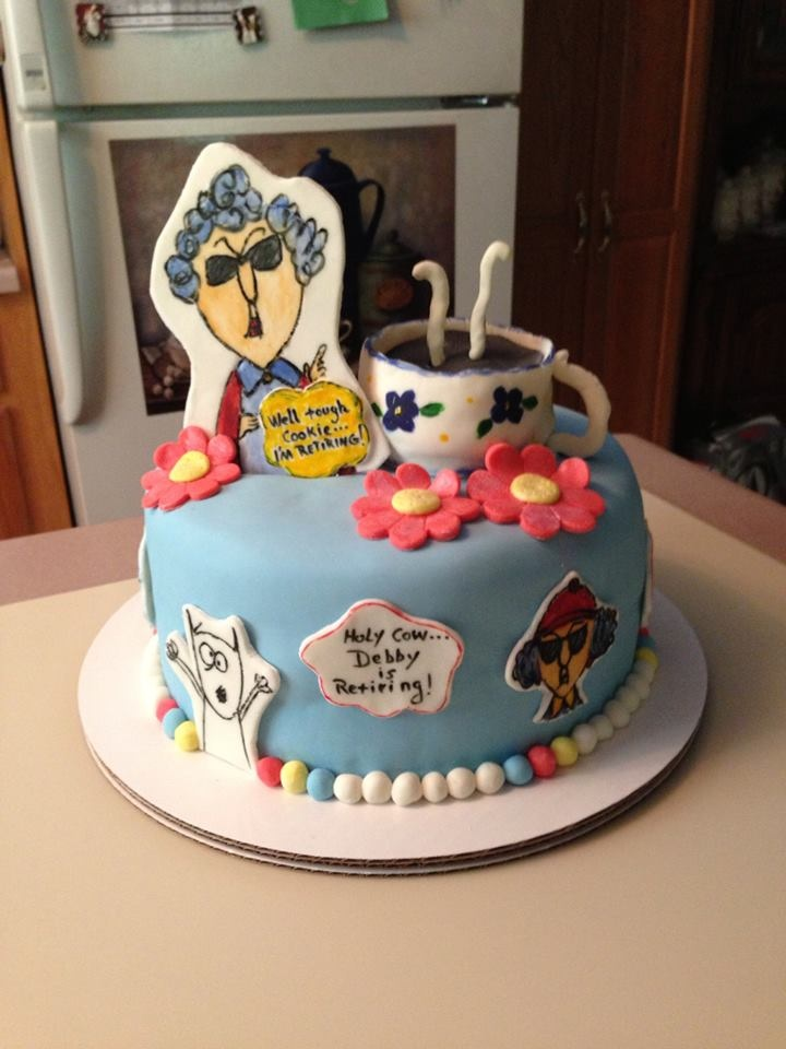 Maxine Retirement Cake Patty Cake S Cakes Pinterest