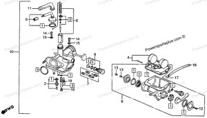 Diagram of Honda Motorcycle Parts 1976 CT90 A CARBURETOR K677 Diagram | Honda CT 90 | Pinterest