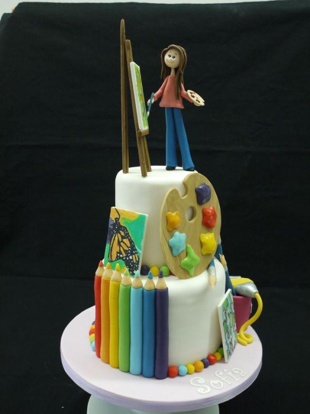 Artist cake artists cake cakes for girls pinterest