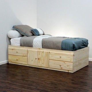 Extra Long Twin Storage Bed 4 Drawers Amp 2 Doors In Birch