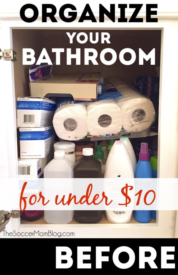 A clean, organized bathroom doesn't have to take hours or cost a ton of money! These bathroom organization hacks make it easy to