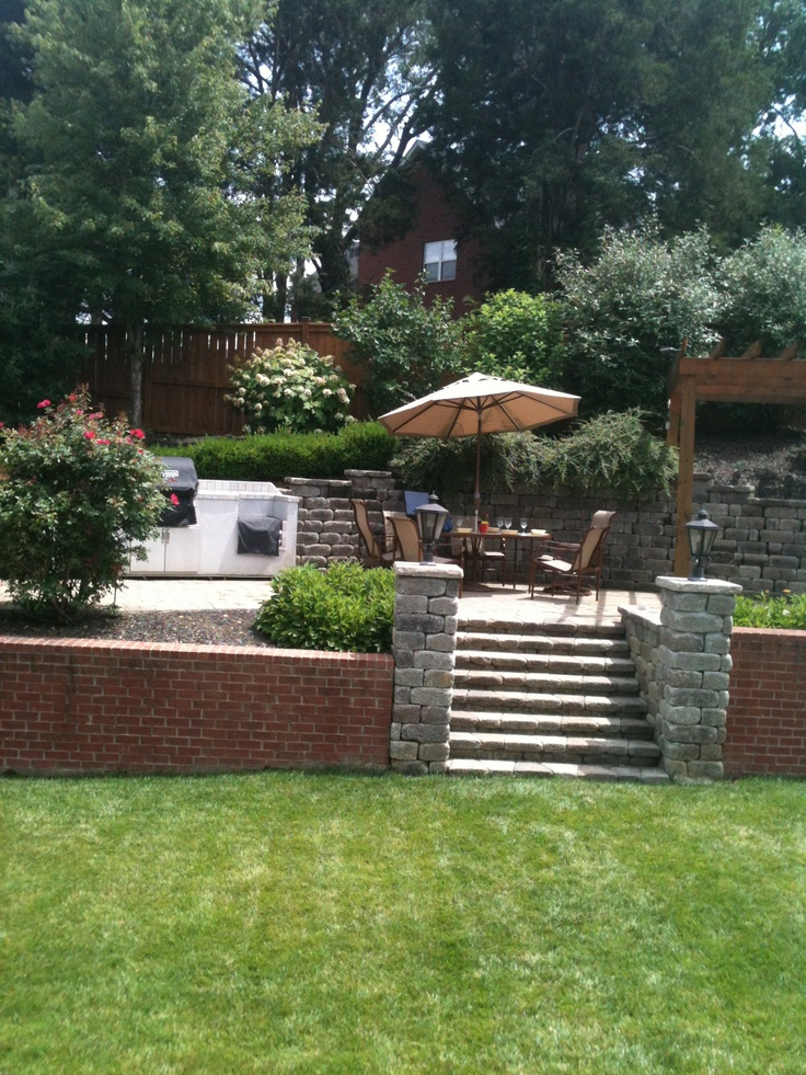 17 Best images about Sloped backyard ideas on Pinterest ... on Patio On A Slope Ideas id=43023