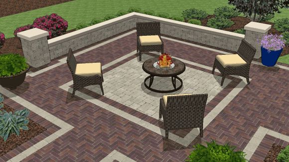 52 best images about Paver patio on Pinterest   San diego ... on Paver Patio With Fire Pit Ideas id=21813