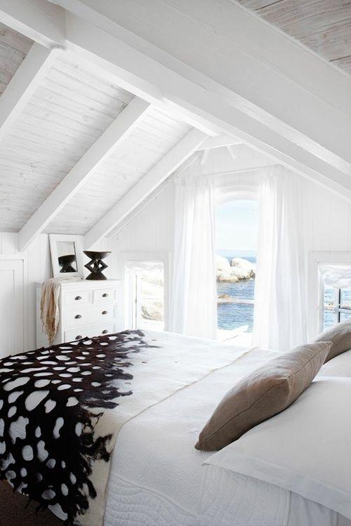 Myidealhome White Beach Bedroom Via Pinterest