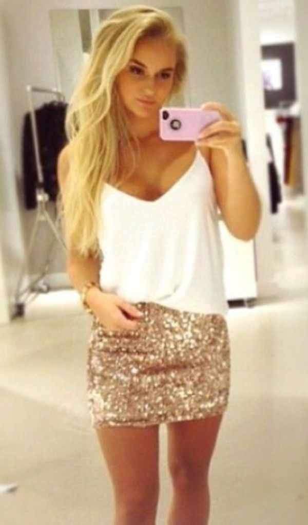 Skirt: sparkly dressy fancy night out clubwear