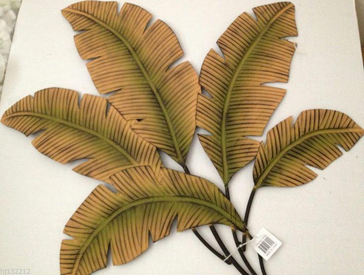 Banana/Palm Leaves Decorative Metal Wall Art