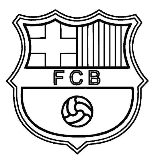 Barcelona Logo Soccer Coloring Pages I Love A Party