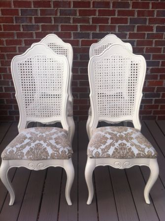 25 Best Cane Back Chairs Ideas On Pinterest How To Reupholster Furniture Dining Chair Redo