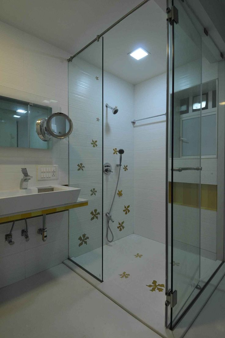 Bathroom with Shower Enclosure design by Sonali Shah ...