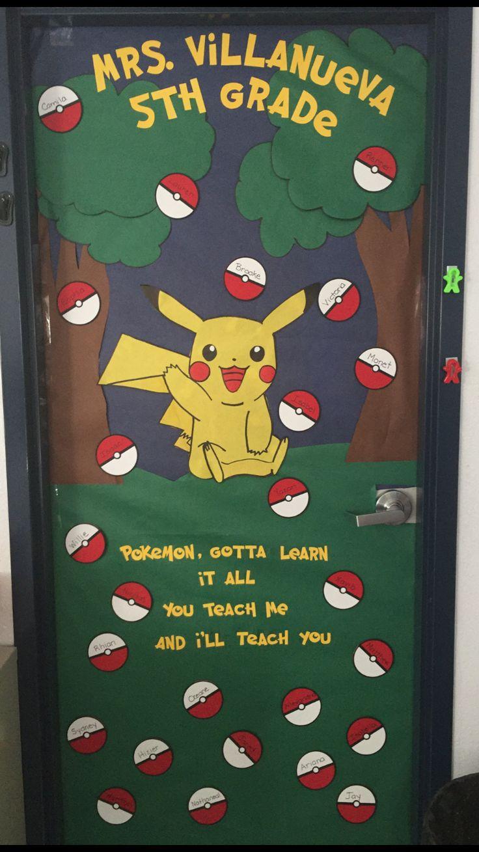 Pokemon Door Decoration Door Decorations Pinterest