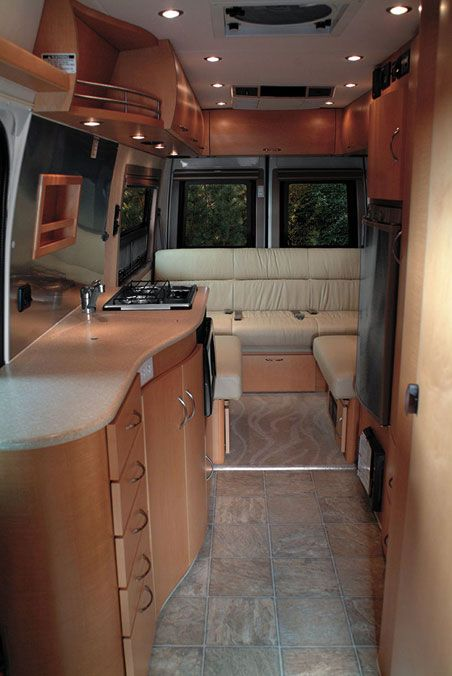 Pleasure Way Dodge Plateau Class B Motorhome Interior Jpg