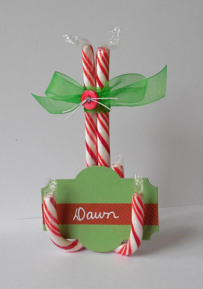 Create Candy Cane Place Card Holders For Your Holiday