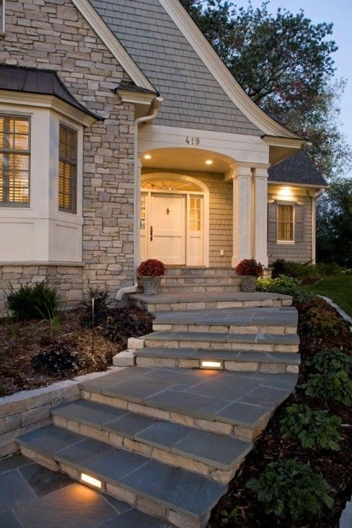 Front Steps Design Ideas Home Design Ideas | Front Step Design For House | Half Round | House Indian | Back Door Step | House Kerala | Circular Step