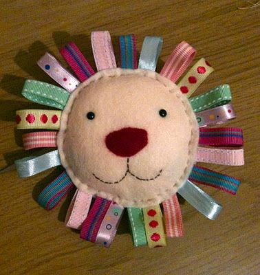 And sew it begins: Another felt animal – cute one for the little one with different coloured taggies