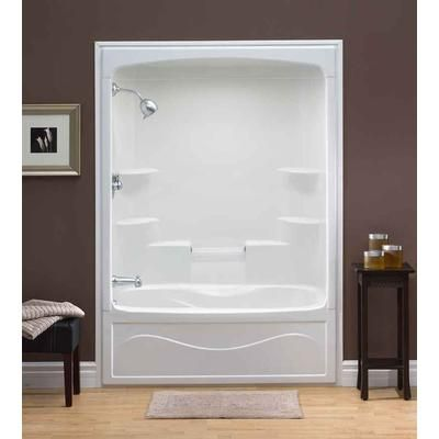 Mirolin Liberty 60 Inch 1 Pc Acrylic Tub And Shower