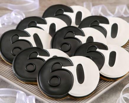 60th Birthday Cookies Sugar Cookies Pinterest