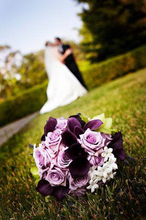 Beautiful Picture … absolutely love the bouquet in face while the kissing couple is in the