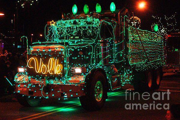 Lighted Green Dumptruck Dump Trucks Biggest Truck And Rigs