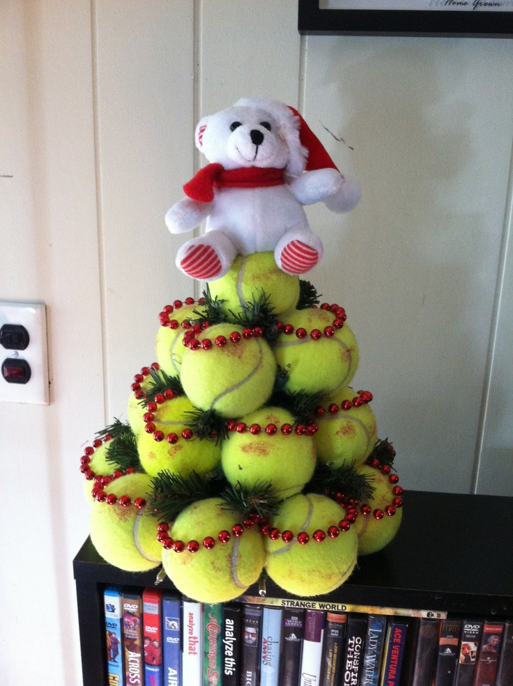 Christmas Tennis Ball Tree Made By Hubby My Own Projects