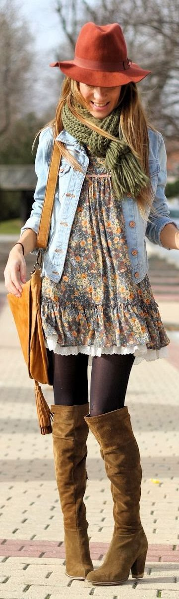 I love this babydoll dress with the jacket. This is not something I would typically wear but am willing to try this.:
