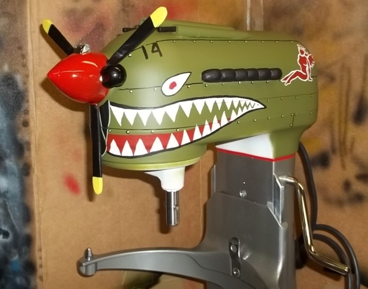 CUSTOM PAINTED KITCHEN AID MIXER P40 Warhawk With
