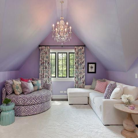 Cool Bedrooms For Teen Girls Attic Room Design Ideas