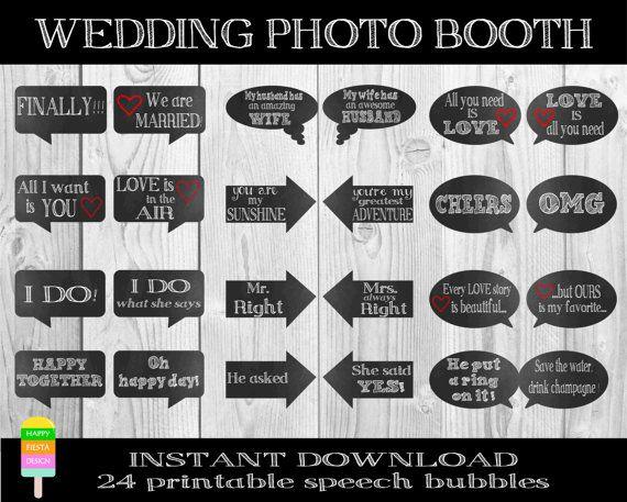 PRINTABLE Wedding Photo Booth PropsWedding Props