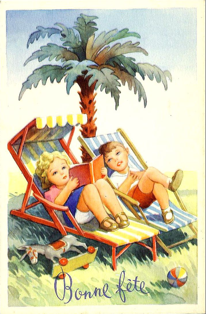 Vintage Summer Postcards And A Happy Halloween Here Are