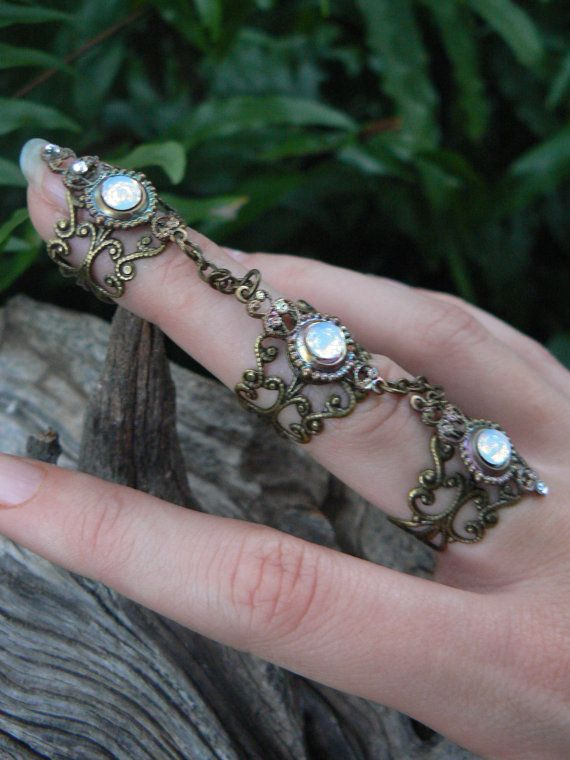 triple armor ring gypsy style…