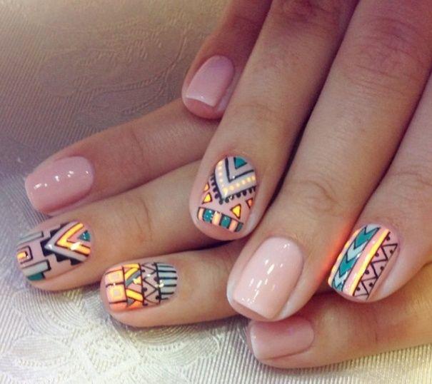 tribal + nails   Repinned by @Katarina Jonsson Kamperin