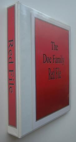 Emergency Kits – Red File Includes a great list of information to include.