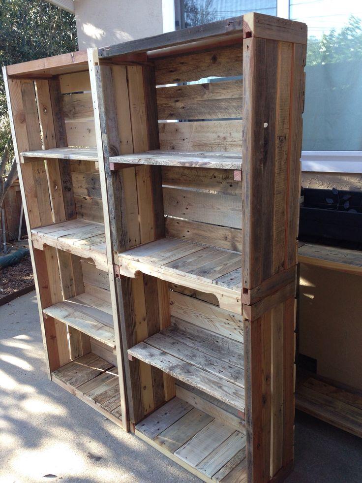 Pallet Bookshelves Pallet Shelves Pinterest Pallet