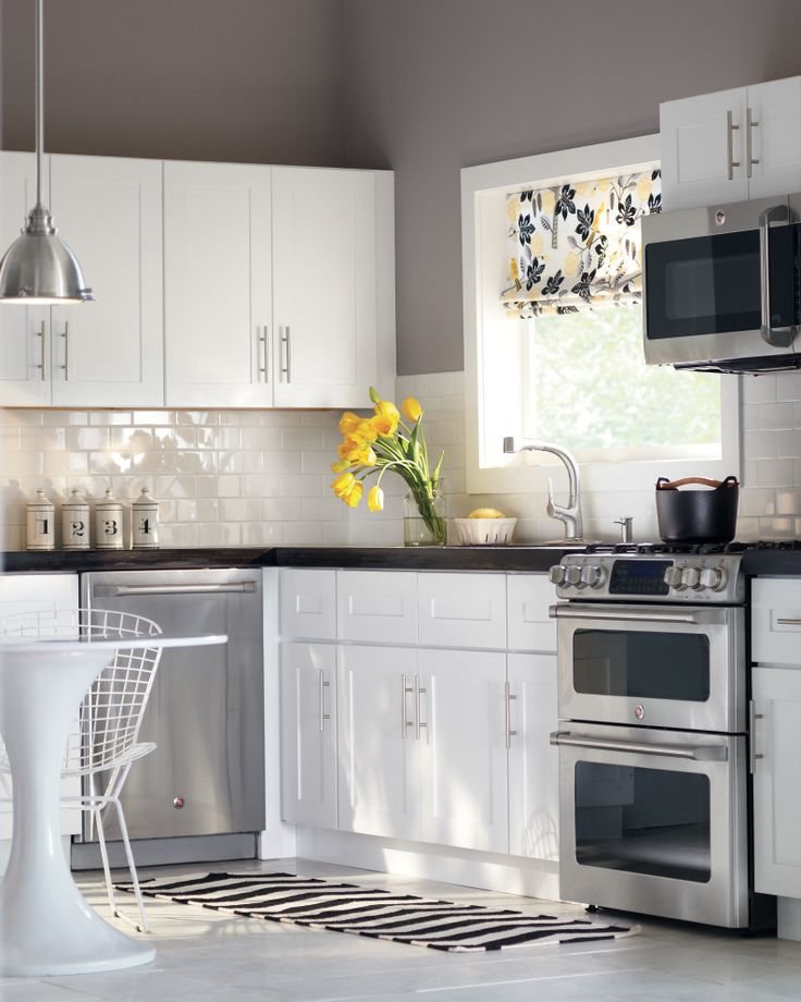 light fixture wall color white cabinets subway tile gray walls perfection kitchen on kitchen ideas white and grey id=49870