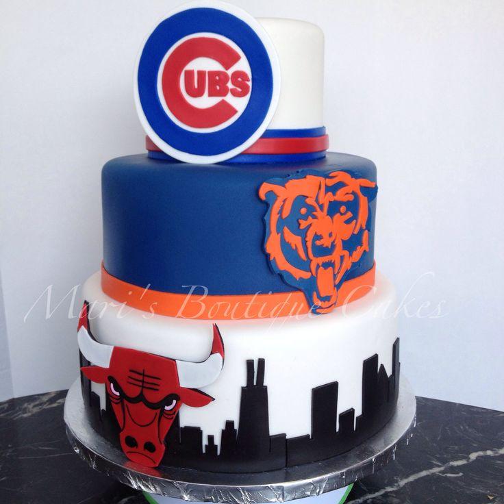 Best 25 Chicago Bulls Cake Ideas On Pinterest Michael