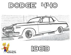 1963 Dodge 440 Car Colouring Pics at YesColoring | Brawny