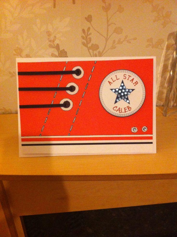 Teenage Boy Birthday Card Converse Handmade Cards Boys