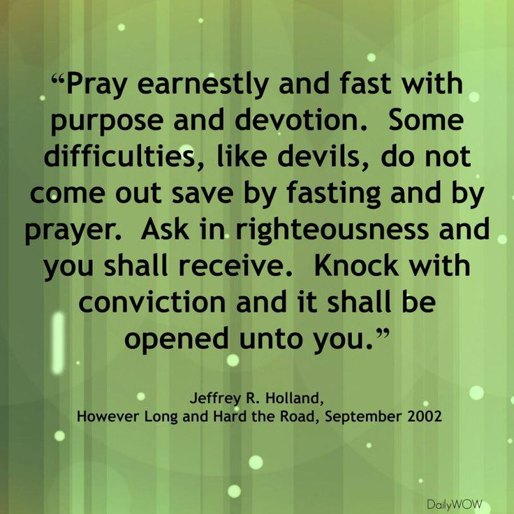 Lds Quotes Prayer And Fasting