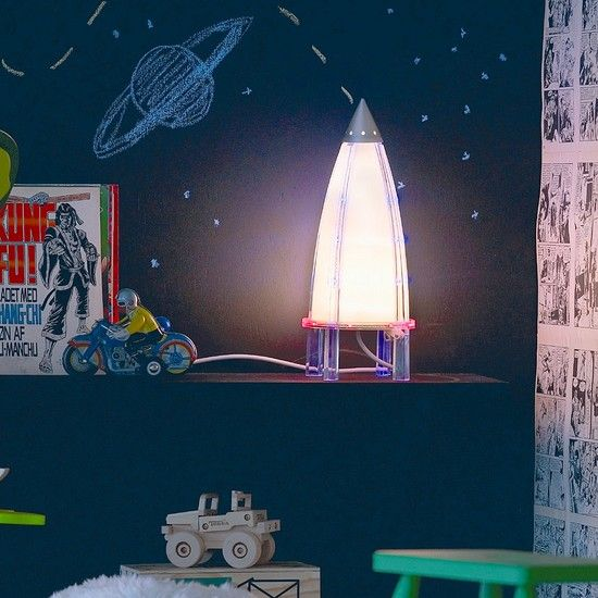rocket lamp Invite Curiosity with an Outer Space Themed ...