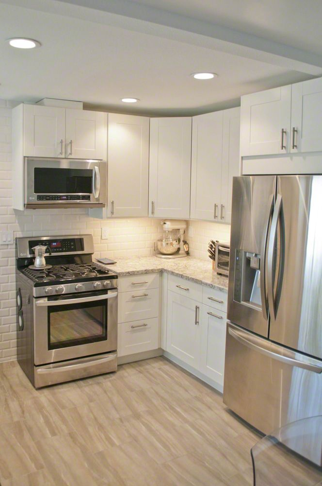 IKEA Adel cabinetry in off white, Cambria countertops in ... on Modern:gijub4Bif1S= Kitchen Remodel  id=79137