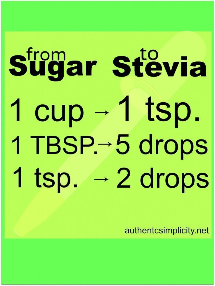 """Substitute Stevia for Sugar """"- Stevia is a natural sweetener used for centuries in South America. Great for diabetics & those"""