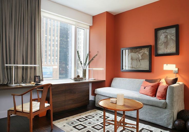 237 best images about color trend grey orange on pinterest on office accent wall color id=40875