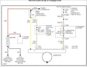 2001 Ford Taurus Wiring Diagram | alternator | Pinterest
