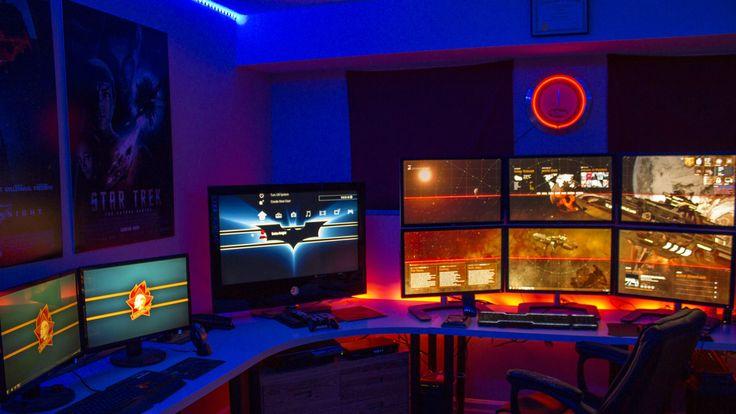 6 Monitor Battlestation Setup Via Reddit User KeithKenkade